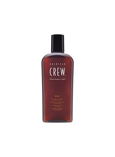American Crew 3 in 1 Erkek şampuan Saç Kremi Vücut Jeli 450 ml Renksiz